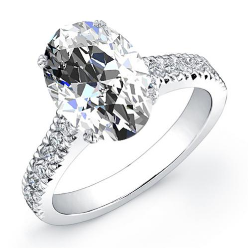 Natural Art Deco Pave Diamond Engagement Engagement Ring