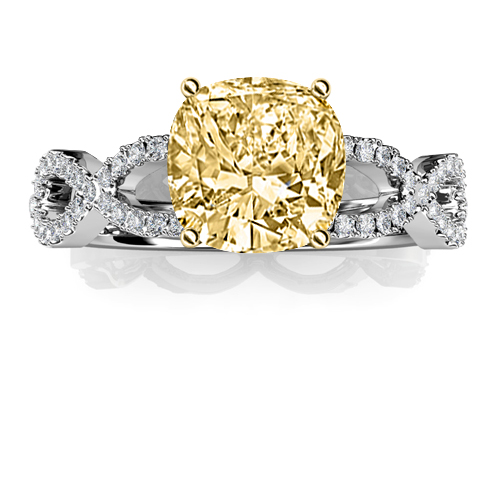 Natural Pave Infinity Design Diamond Engagement Ring