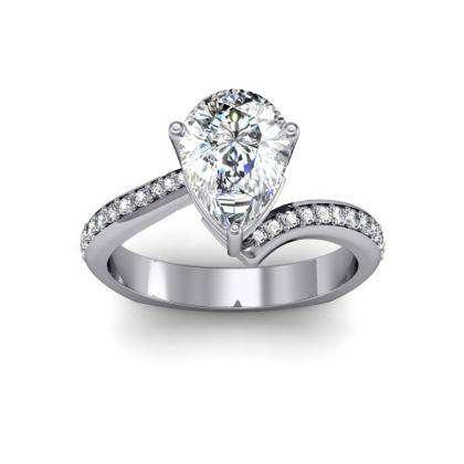 Euro Shank Pear cut Engagement Rings