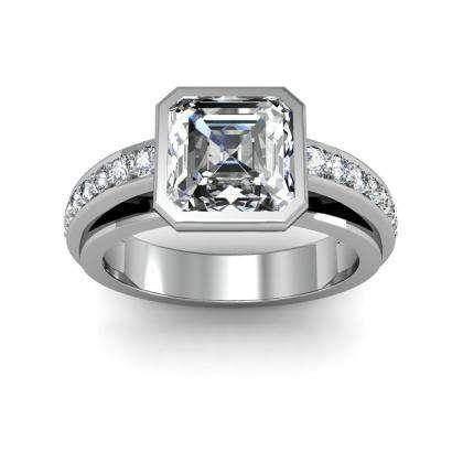 Unusual Bezel Set Engagement Rings
