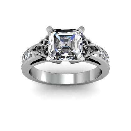 Art Deco Asscher cut Engagement Rings
