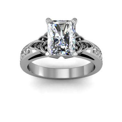 Celtic Radiant cut Engagement Rings