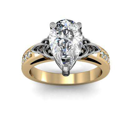 Yellow Gold Pear cut Engagement Rings