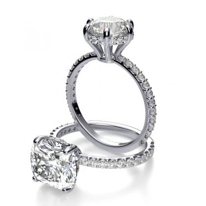 Antique Cushion cut Engagement Rings