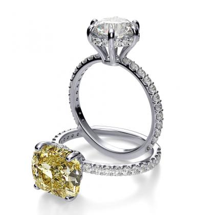 Antique Yellow Diamond Engagement Rings
