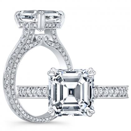Vintage Asscher cut Engagement Rings