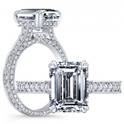 Antique Emerald cut Engagement Rings