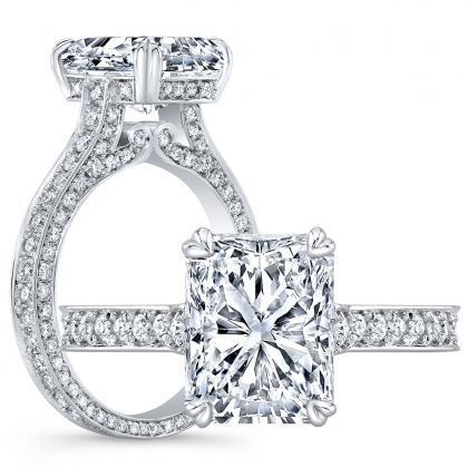 Antique Radiant cut Engagement Rings