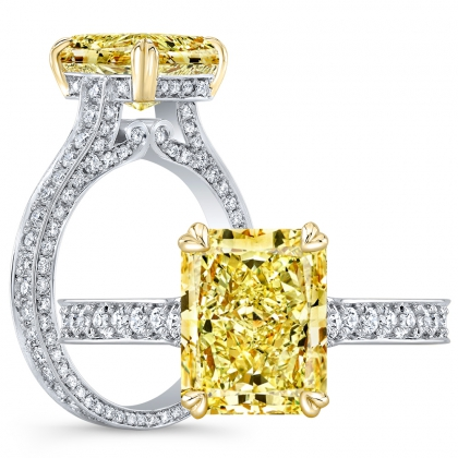 Vintage Yellow Diamond Engagement Rings