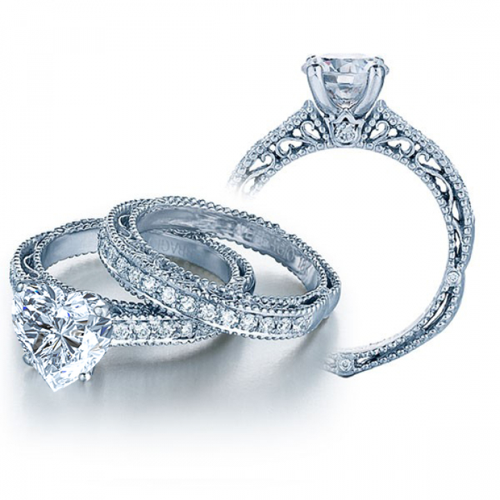 Unique Heart Shape Diamond Engagement Rings