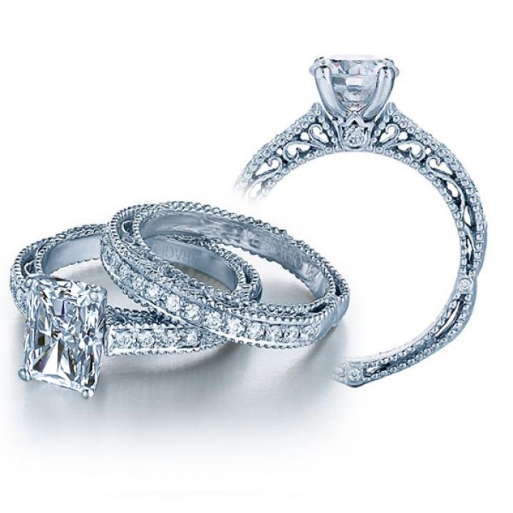 Trendy Radiant cut Engagement Rings