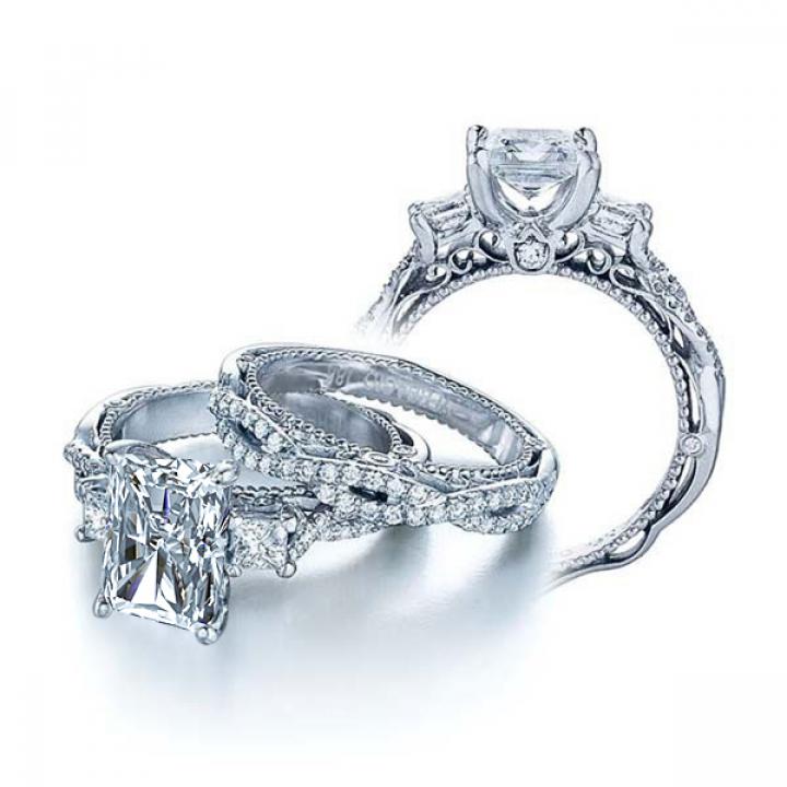 Edwardian Radiant cut Engagement Rings