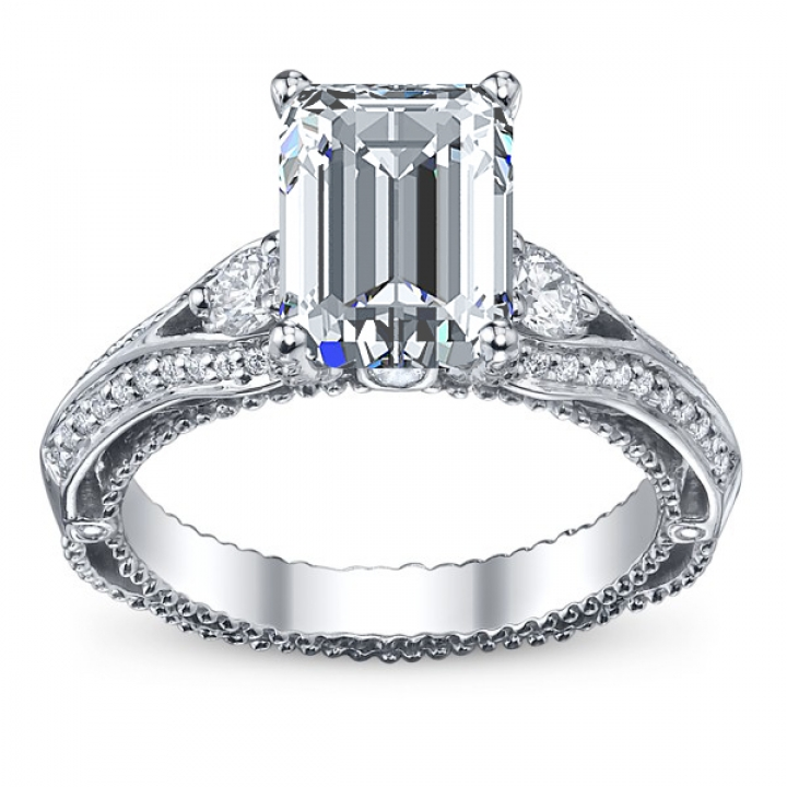 Trendy Emerald cut Engagement Rings