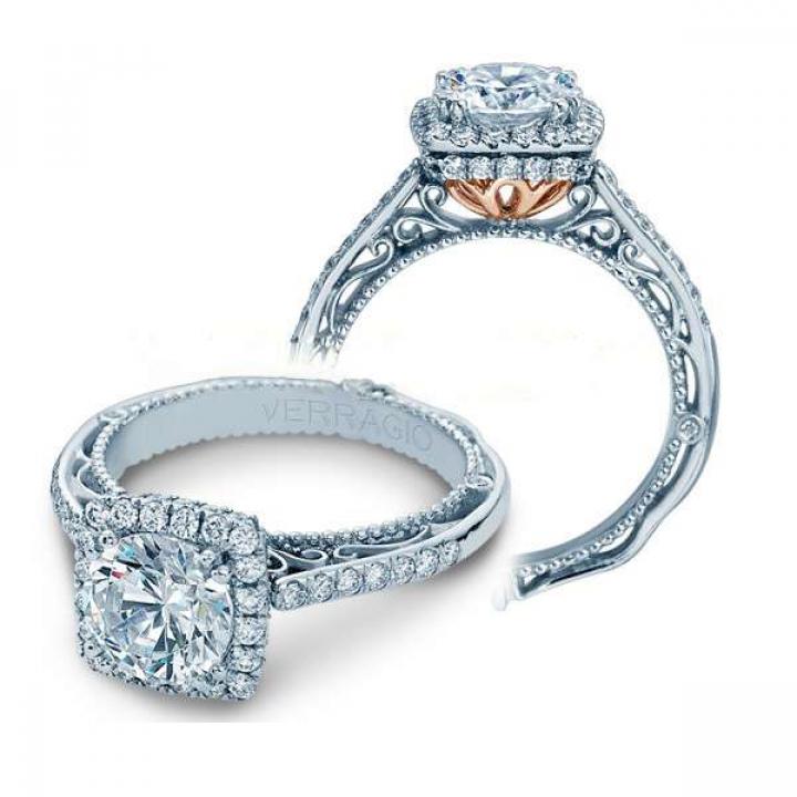 Filigree Halo Engagement Rings