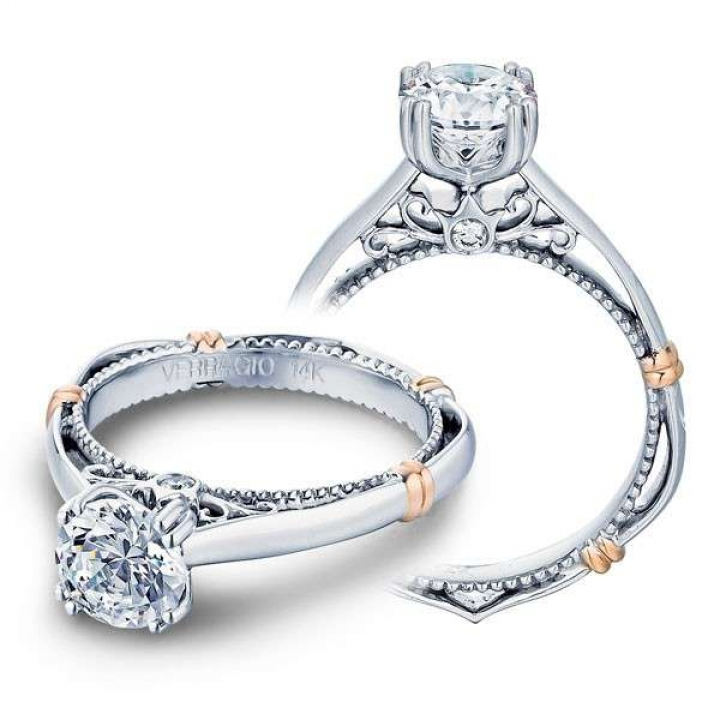 Two Tone Solitaire Engagement Rings