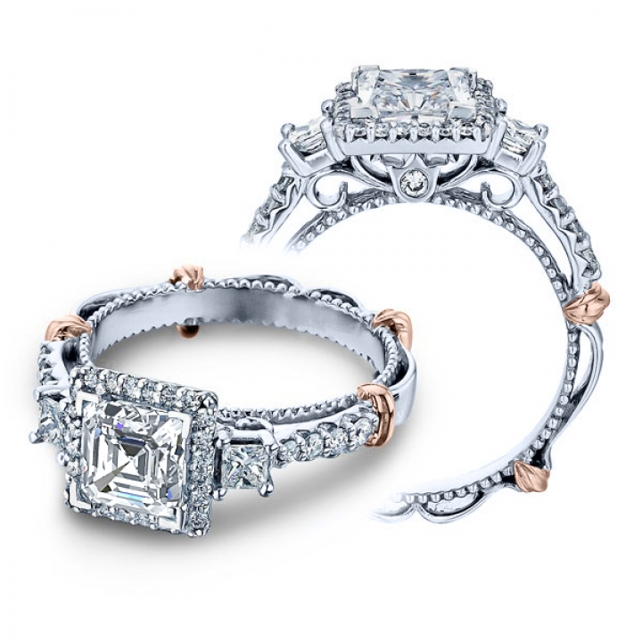 Contemporary Three Stone Engagement Rings