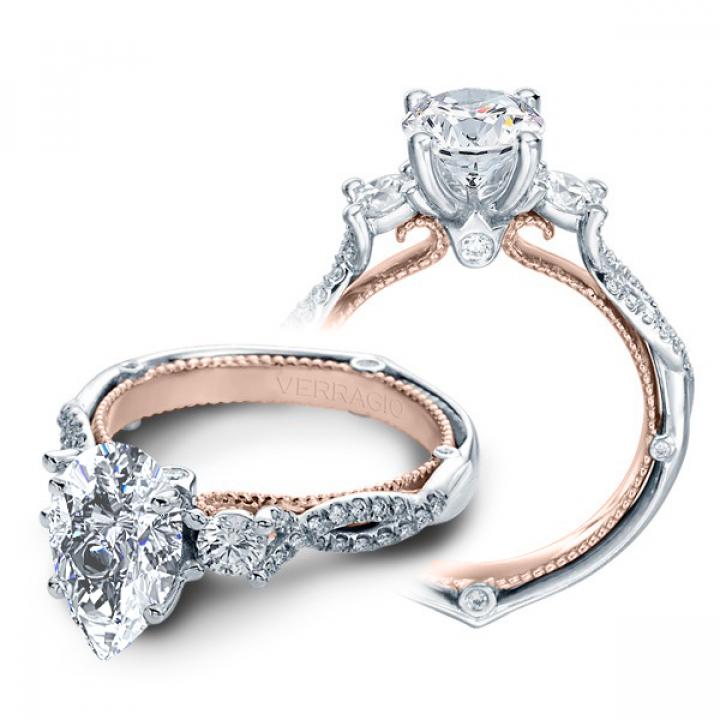 Infinity Pear cut Engagement Rings
