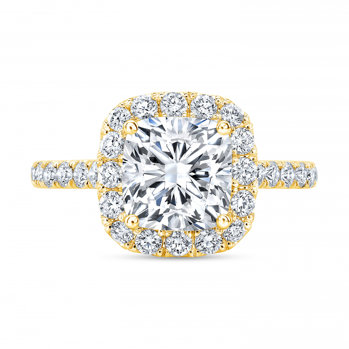 Eternity Yellow Gold Engagement Rings