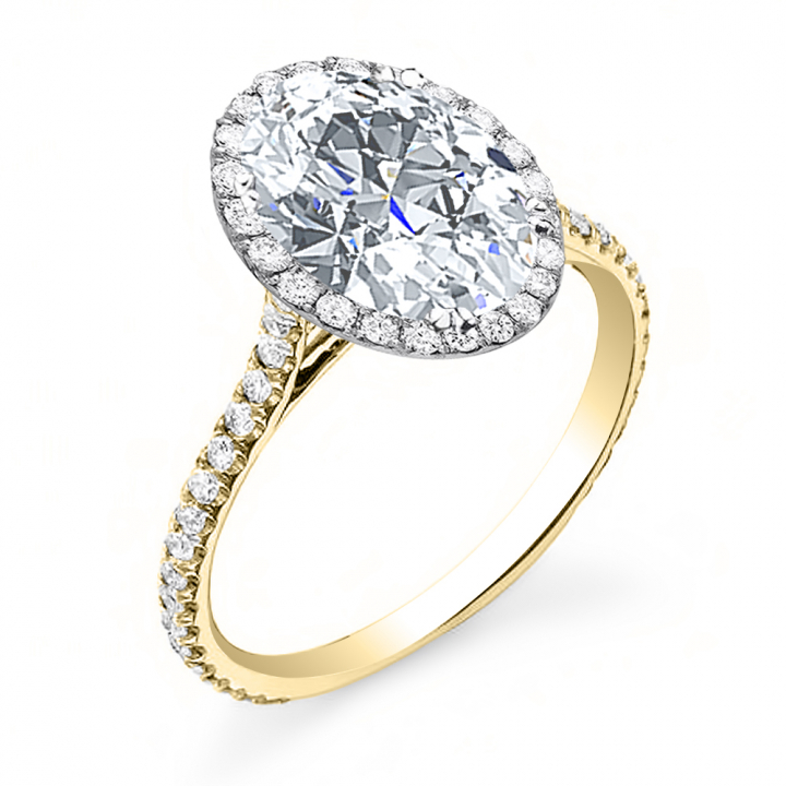 Yellow Gold Oval cut Engagement Rings