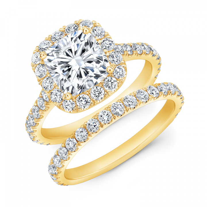 Yellow Gold Bridal Wedding Ring Sets