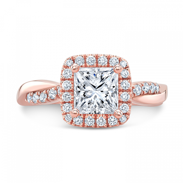 Knots Rose Gold Engagement Rings