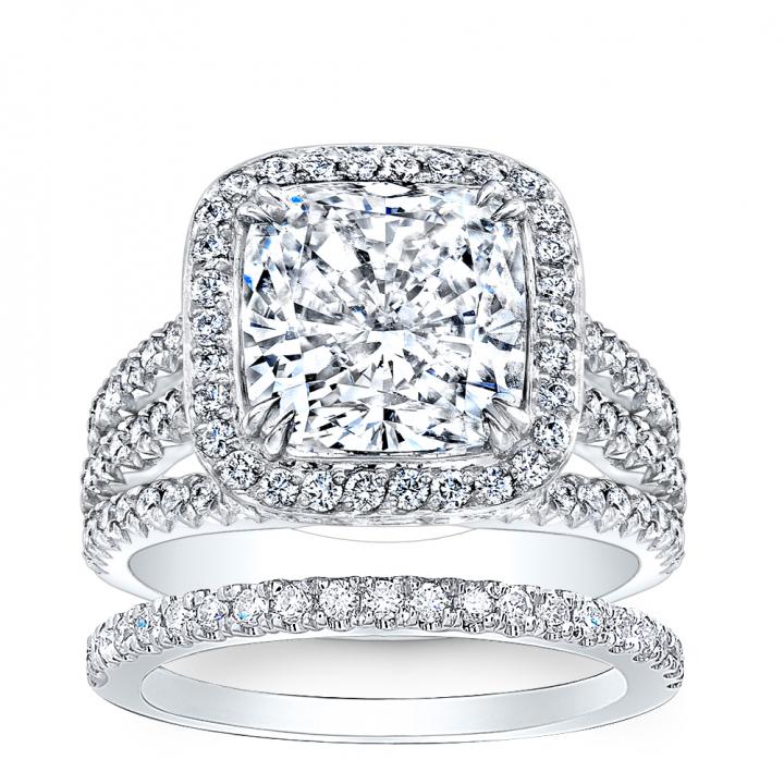 Split Shank Bridal Wedding Ring Sets