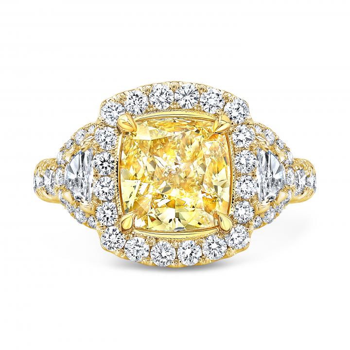 Euro Shank Yellow Gold Engagement Rings