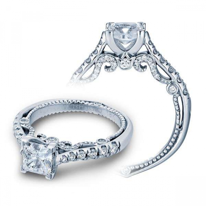 Filigree Pave Engagement Rings