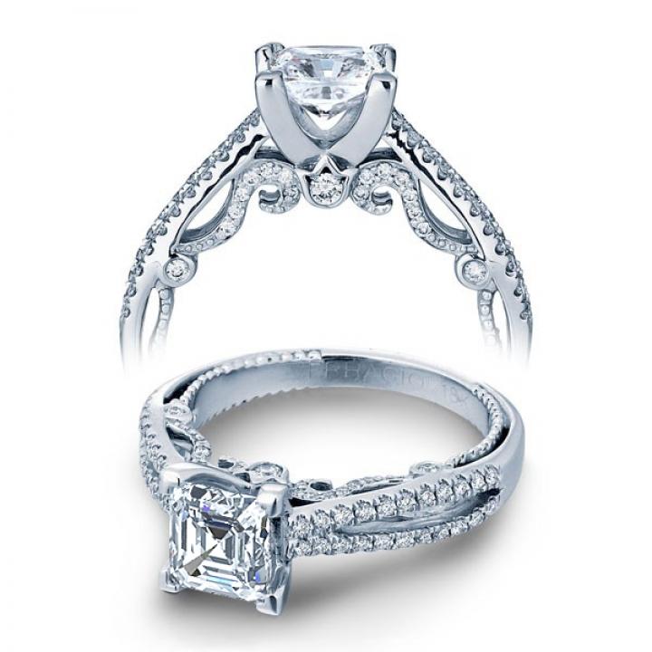 Contemporary Split Shank Engagement Rings