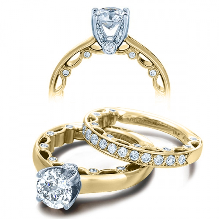 Art Deco Yellow Gold Engagement Rings