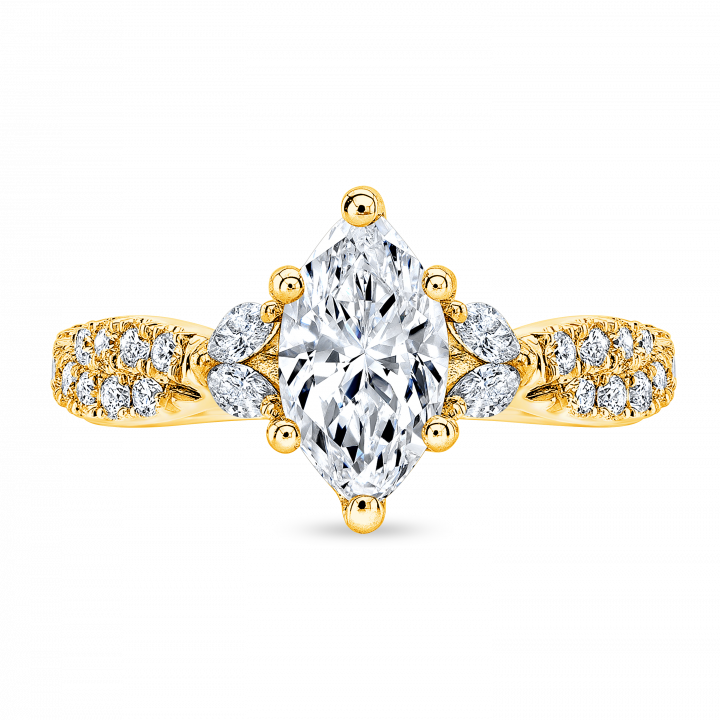Contemporary Yellow Gold Engagement Rings