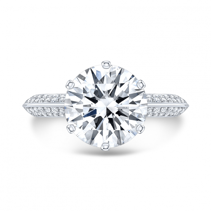 Unusual Pave Engagement Rings