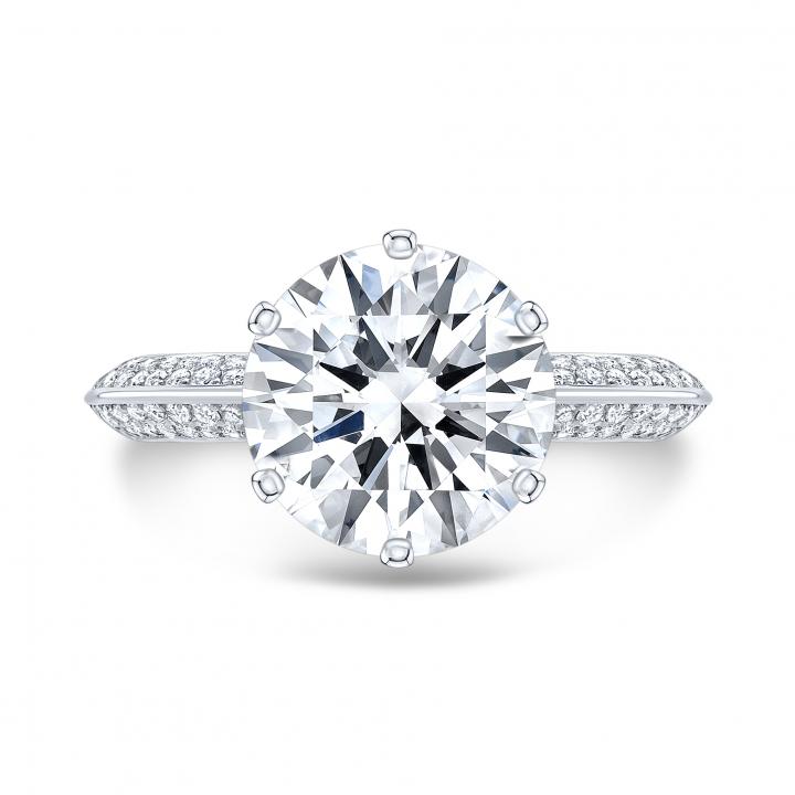 Stylish Pave Engagement Rings