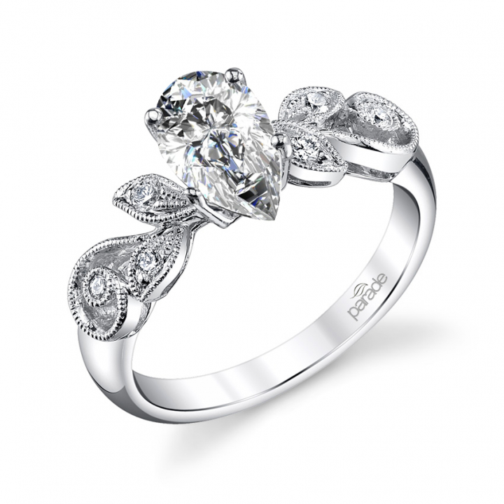 Unusual Pear cut Engagement Rings