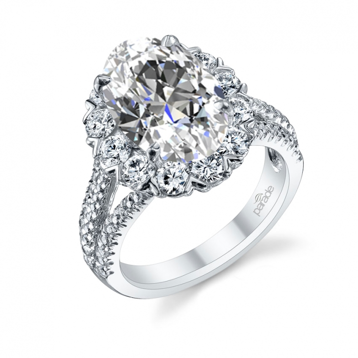 Cluster Halo Engagement Rings