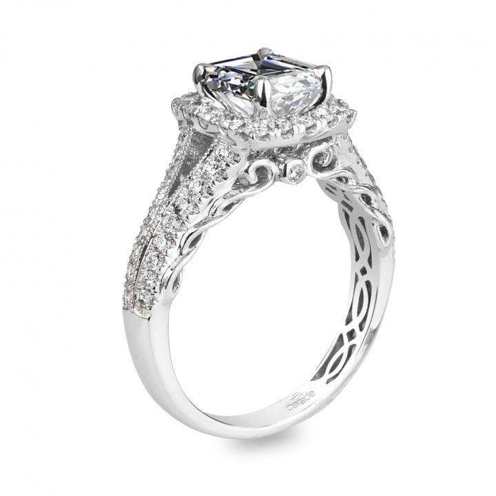 Edwardian Asscher cut Engagement Rings