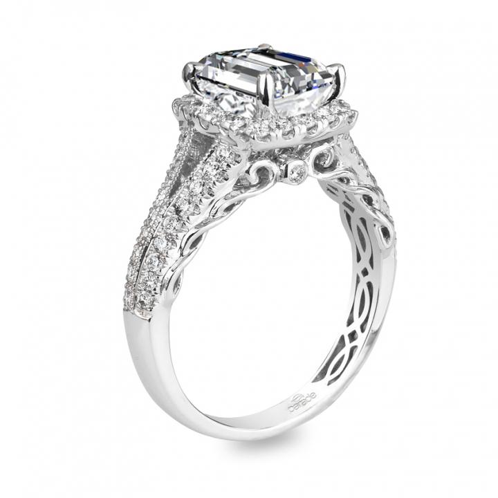 Edwardian Emerald cut Engagement Rings