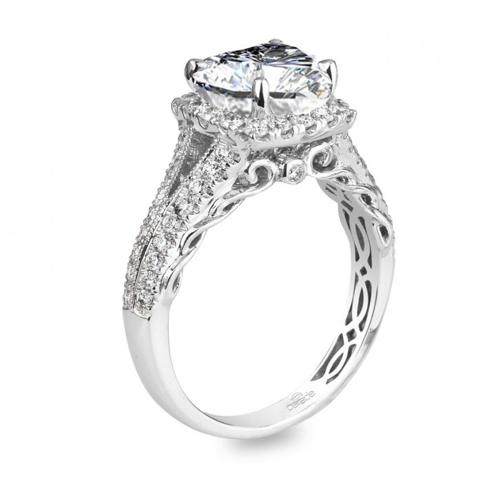 Edwardian Heart Shape Engagement Rings
