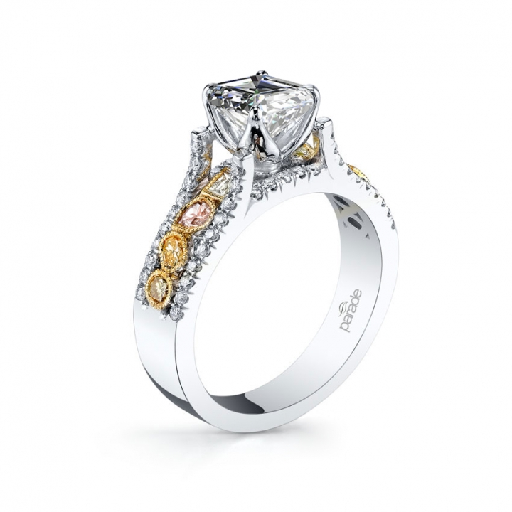 Trendy Pave Engagement Rings