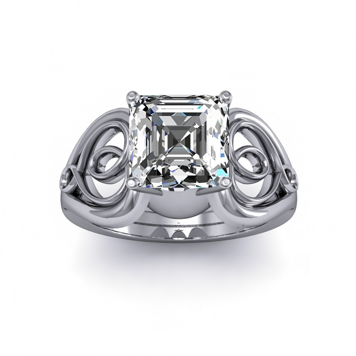 Hearts Solitaire Engagement Rings