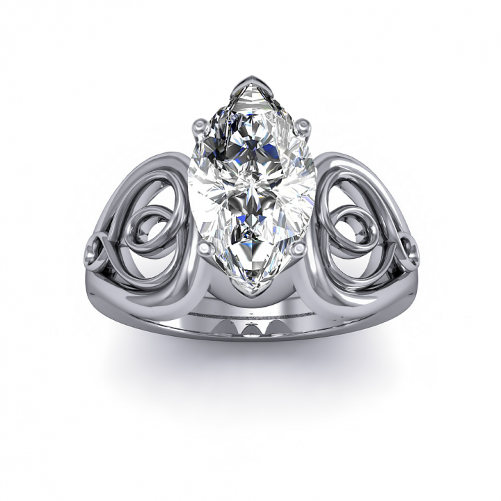 Hearts Marquise cut Engagement Rings
