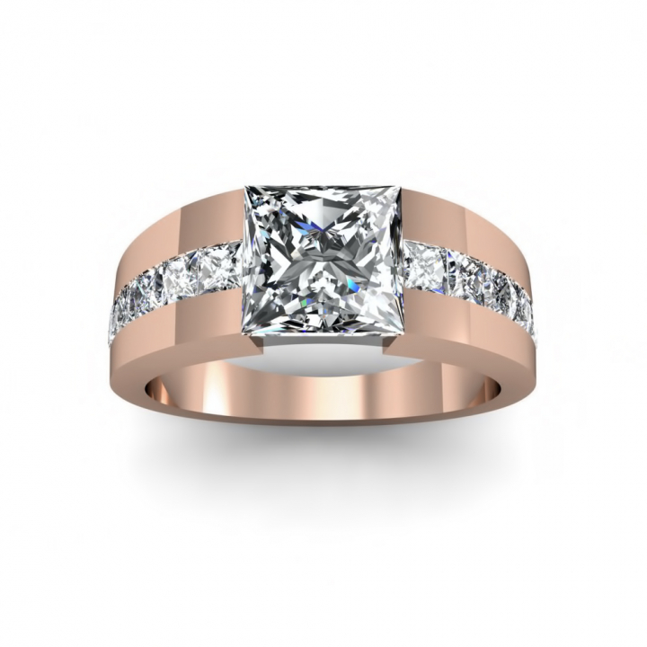Tension Rose Gold Engagement Rings