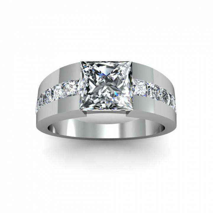 Tension White Gold Engagement Rings
