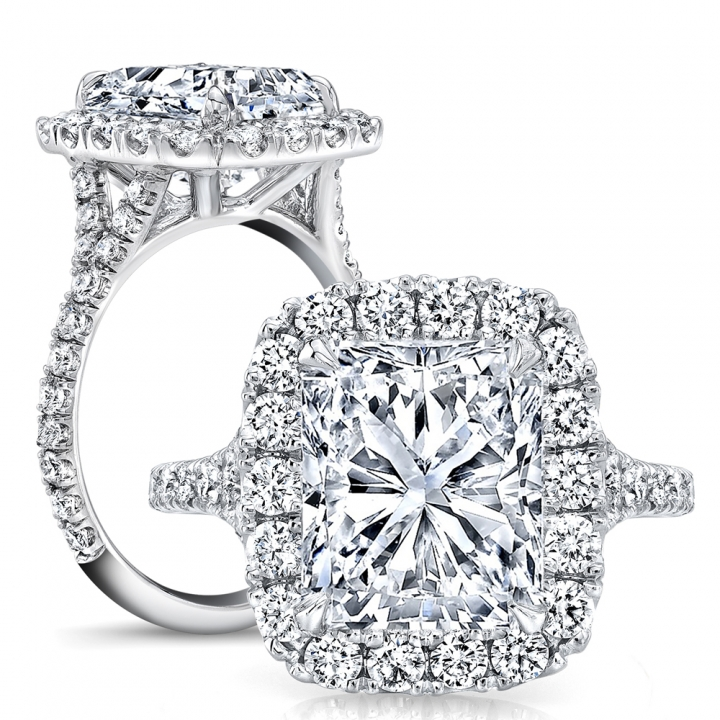 Vintage Pave Engagement Rings