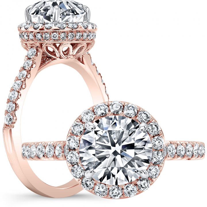 Rose Gold Halo Engagement Rings