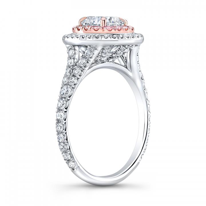 Split Shank Round cut Engagement Rings