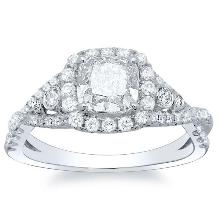 Split Shank Bezel Set Engagement Rings