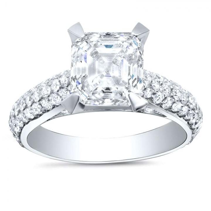 Trendy Asscher cut Engagement Rings