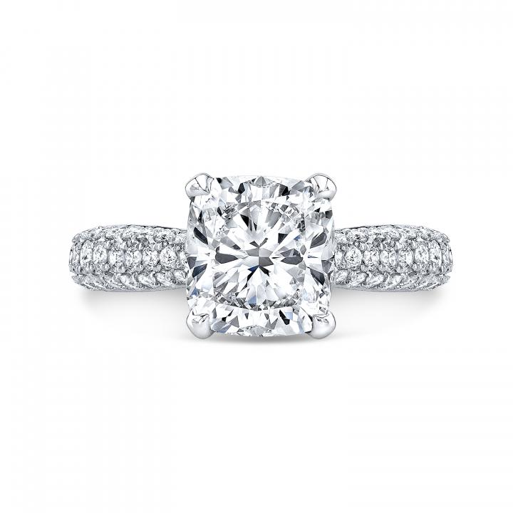 Trendy Cushion cut Engagement Rings