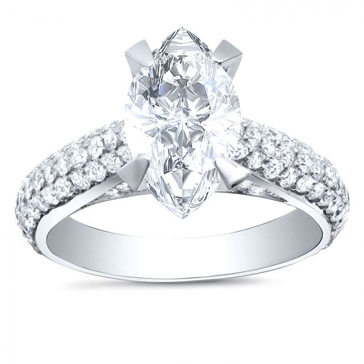 Trendy Marquise cut Engagement Rings